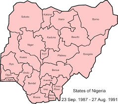 Map With States by Nigeria Map With States