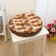 Decorative Outdoor Chair Covers Decorative Round Seat Cushions Tufted Design Modern Floral Print
