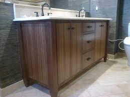 Walnut Bathroom Vanity Custom Made Modern Walnut Bath Vanity By Dennisbilt Custom
