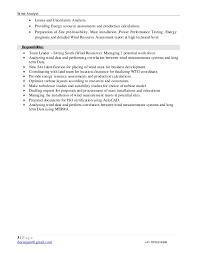 Energy Analyst Resume Deeshith Jain Wind Analyst Resume