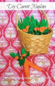 easter napkins how to make diy carrot napkins easter party decor