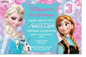 cu1156 frozen birthday invitation template girls themed