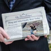 Newspaper Wedding Program Wedding Program Newspaper Center Print And Digital Makemynewspaper