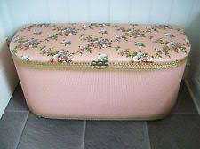 Ottoman Chests Vintage Blanket Box Ottoman Storage Chest Loom Effect Ebay