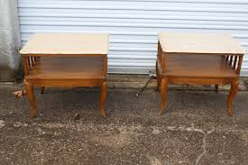 mid century end table pair of matching marble top mid century end tables shabbysandy
