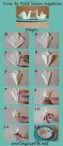 how to fold a swan napkin step by step enrichyourlife net