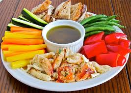 Dip For Thanksgiving Anchovy Garlic Dip With Crab U0026 Vegetables Gianni U0027s North Beach