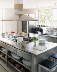stainless steel portable kitchen island groovy modern stainless steel kitchen everything exposed café