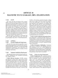 article 16 magnetic flux leakage mfl examination pipe fluid