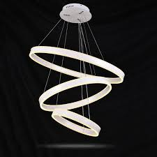 Indoor Chandeliers Indoor Chandeliers White Pendant L Modern Led Ring Chandelier