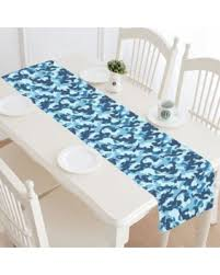 Navy Blue Table L Shopping Special Mypop Sea Water Camouflage Table Runner