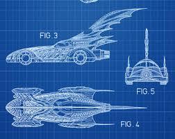 batman patent print batmobile wall art poster patent art