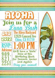 luau invitations luau bash invitation birthday invitation potluck party invite