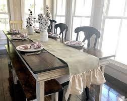 dining room table runner rustic table runner etsy