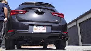 lexus hatchback modded 2017 toyota corolla im exhaust mod youtube