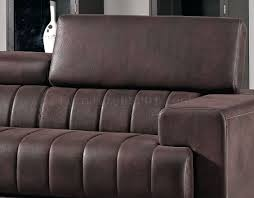fabric modern sectional sofa w adjustable headrest