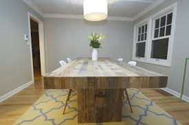 Dining Room Area Rug Ideas by Natural Pattern On Wooden Bench And Table In Rustic Dining Room