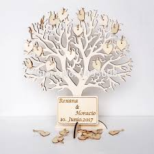 wishing tree large wooden guest book alternative 3d unique guestbook
