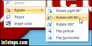 rotate or flip picture horizontally vertically in ms paint