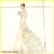swan s wedding dress fashion designers sketch swan s wedding dress photo 264891