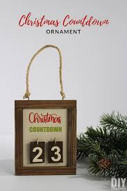 countdown ornament days till
