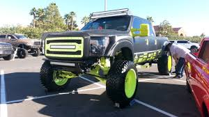 ford lifted bigg boss black and yellow ford lifted truck off road wheels