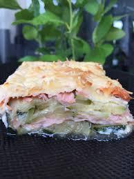 cuisiner saumon fumé gratin de courgettes et saumon fumé et sa cuisine gourmande