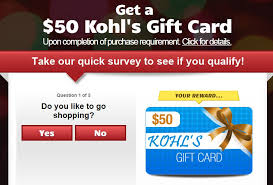 survey for gift cards email scam your kohl s 50 gift card give away phishlist