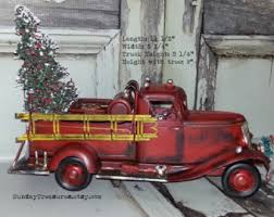 Fire Trucks Decorated For Christmas Fire Truck Bedroom Etsy