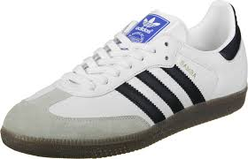 white samba samba shoes white black