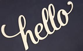 unpainted script hello letters