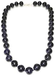 gold stone necklace images Treasures hanover blue goldstone necklace from pennsylvania jpg