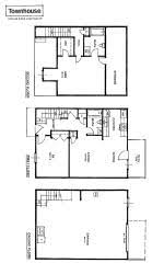 3 story townhouse floor plans apartment rental layout spacious living oversized closets patio