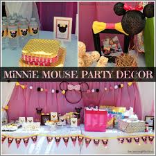 home decor party interior design minnie mouse themed birthday party decorations