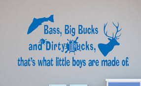 wall decals children wall decals for decor boys wall decals bass bucks dirty trucks boys wall decal stickers saying