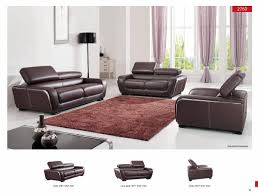 Modern Sofa Sets Living Room Esf 2750 Modern Brown Leather Living Room Sofa Loveseat And Chair