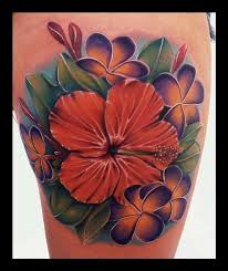 plumeria hibiscus tattoos for women pictures to pin on pinterest