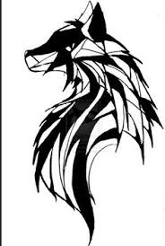 small wolf designs small tribal tattoos designs archives