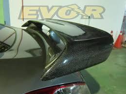 nissan 370z or evo x 370z evo r high wing carbon fiber or abs