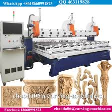 4 axis table top cnc china best 4 axis wood carving rotary multi spindle 3d cnc router