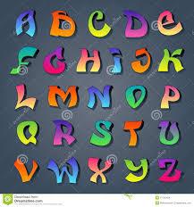 graffiti alphabet colored stock vector image 47195404