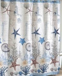Sailboat Shower Curtains Coastal Seashell Linen Fabric Antigua Nautical Shower Curtain