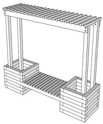 Deck Planters And Benches - planter boxes google search planter boxes pinterest