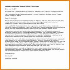 investment banking resume cover letter examples investment banking