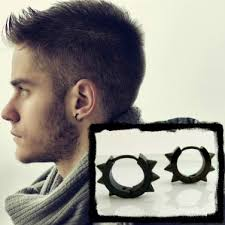 mens huggie earrings spike hoop earrings for men black mens huggie hoop earrings