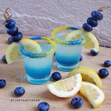 rainbow cocktail drink blueberry lemon drop shot tipsybartender com lemon drops
