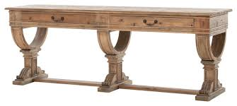 salvaged wood console table four hands sergio console table traditional console tables by