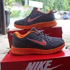 Sepatu Nike Running Wanita jual sepatu nike running abu abu orens made in sepatu