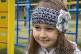 knitted headband knitted headband with flower free pattern