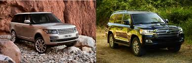 land rover ford head to head 2016 land rover range rover vs 2016 toyota land